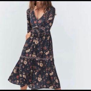FAHERTY HALSEY LONG SLEEVE FLORAL DRESS